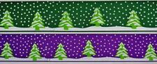"BB Ribbon CHRISTMAS SNOWY TREES bulk 5m grosgrain 1 ""/ 25mm xmas"