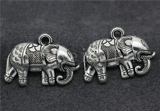 5/20/100pcs Antique Silver Beautiful Elephant Jewelry Charms Pendant DIY 22x19mm