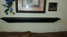 Wood Shelf Fireplace Mantle Mantel Distressed Rustic Black Shabby Chic NEW