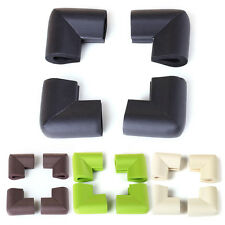 4PC Baby Safety Table Desk Shelf Corner Edge Guard Cushion Protector Green Beige
