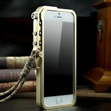 For Apple iPhone 6 6s Plus Aluminum Metal Mechanical Arm Bumper Clear Back Case