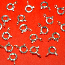 WHOLESALE LOTS Sterling Silver 925 5mm SPRING RING CLASPS with Open Rings