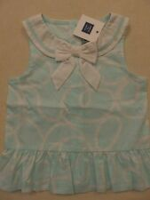 Janie and Jack SUNDECK SOCIAL Aqua White Bow Rope Swirl Print Top NWT 2T 5
