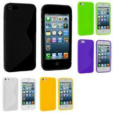 Color TPU Solid S-Shape S-Line Rubber Skin Case Cover for Apple iPhone 5 5G 5S