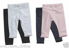 NEW GIRLS X 2 PAIRS PACK OF LEGGINGS 0-3-6-9-12-18-24 MONTHS 2-3-4-5-6 YEARS