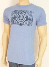 Element Skateboards Forested Tee Mens Blue Heather Cotton Blend T-Shirt New NWT