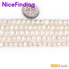 """5-6mm Round Freshwater Pearl Stone Mixed Color Jewelry Making Beads Gemstone 15"""""""