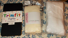 Girls Tights Stockings Black Ivory or White New Sizes 8/10, 6/8, 7/10