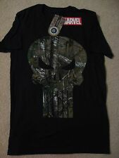 THE PUNISHER Realtree CAMO hunter SKULL movie Comic BOOK MEN'S Costume T-Shirt