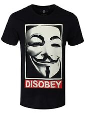 V For Vendetta Disobey Men's Black T-shirt