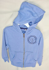 GUESS 100% Cotton Long Sleeve Indigo Zip Front Hoodie BOY SIZE 12/14 NWOT