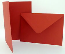 Pack of Craft Red Blank Christmas Cards Envelopes 4 x 4 5 x 7 6 x 6 C6/A6
