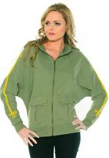Bnwt Womens Authentic Christian Audigier Tapered Sleeve Ceremony Hoodie Olive