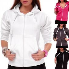 Ladies Sweater jacket jacket with hood Jacket Pullover with zipper 10 Colors