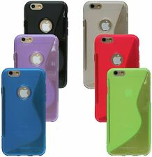 accessory set free choice Case Silicone Rubber case + Foil for Iphone 6