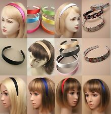 ALICE BAND, 2.5cm, WIDE, SATIN, SCHOOL, HEADBAND, HAIR ACCESSORY EVERYDAY FABRIC