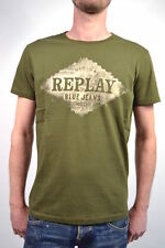 "new! Replay T-SHIRT M6153 ""Replay Blue Jeans"" Olive Green - Size M or L"