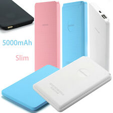 Portable 5000mAh External Battery USB Power Bank Pack Charger For iPod LG iPhone