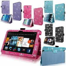 PU Premium Leather Glitter Flip Folio Stand Case Cover For Samsung,Kindle,Apple