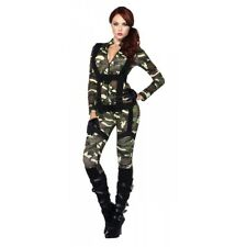 Army Girl Costume Adult Military Halloween Fancy Dress
