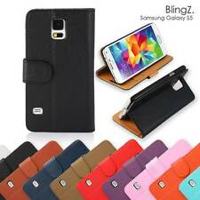 Samsung Galaxy S5 PU Leather Case Stand Flip Wallet Cover