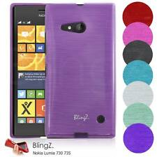 TPU Silicone Liner Gel Case Cover For Nokia Lumia 730
