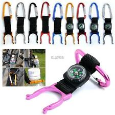 COLORFUL CLIMBING HIKING OUTDOOR CARABINERS KEYCHAIN HOOK WATER BOTTLE HOLDER