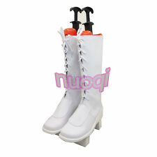 Vocaloid Luka Senben Zakura White Boots Cosplay Shoes Boots any size