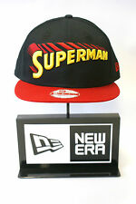 New Era 9FIFTY Superman DC Comics Black Red Peak Snapback Hat Baseball Cap
