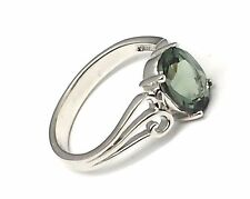 Peridot Ring Quartz 925 Silver STERLING SILVER