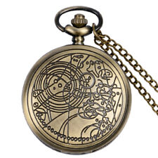 Vintage Quartz Doctor Who Necklace Pocket Watch Chain Multi-Color Xmas Men Gifts