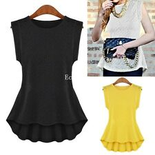 New Women Womens Ladies Embroidery Lace Blouse Vest Sleeveless Shirt Tank Top