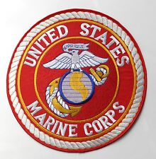 USMC MARINE CORPS US MARINES CLASSIC STYLE EMBROIDERED PATCH 10 INCHES