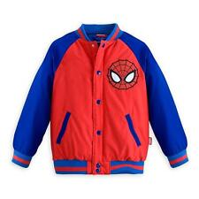 Disney Store Marvel Spiderman Boy Varsity Jacket Size 5/6