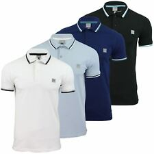 Mens Pique Polo T-Shirt Bench 'Competitor' Twin Tipped Collar Short Sleeved