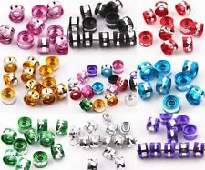 Lot 100/500pcs Beautiful Aluminium Tube Spacer Loose Beads Jewelry Finding 6X4mm