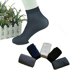 5/10 Pairs Fashion Mens Soft Ultra Thin Summer Comfortable Anti-odor Short Socks