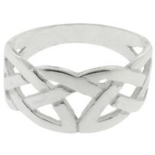 Men's Solid Silver Irish Celtic Knot Work Ring Celtic Jewellery