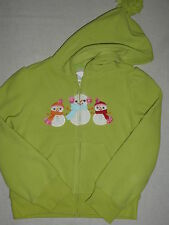 Gymboree COZY CUTIE Green Snowman Friends Fleece Hoodie Hooded Zip Jacket NWT