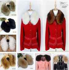 50CM/60CM Women Faux Rabbit/Raccoon/Fox Fur Collar Cape Scarf Shawl Wrap Stole