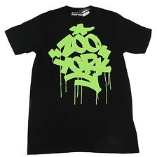 Zoo York Mens Black T-shirt with Green Logo Short Sleeve Tee Shirt