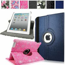 For Apple iPad 2/3/4 Rotating PU Leather Smart Folio Stand Case Cover Protector