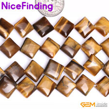 Wholesale Lots Natural Yellow Tiger Eye Loose Stone Beads For Jewelry Making 15""