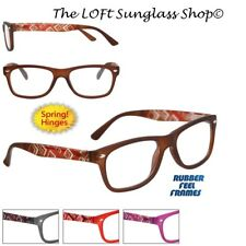Simple Design Quality Reading Glasses Stylish Geometric Print Great Lens r9013