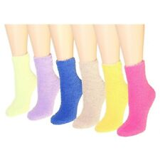 New 6-12 Pairs Womens Soft Cozy Fuzzy Winter Warm Solid Slipper Socks Size 9-11
