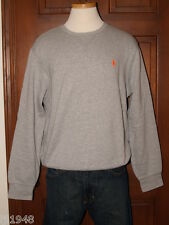Polo Ralph Lauren Gray Heather Crew Fleece Sweatshirt Polo Pony M L XL XXL NWT