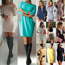 Womens Party Bandage Bodycon Dress Ladies Evening Cocktail Long Tops Size 6 - 16