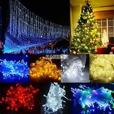 100/300/600 LED Chaser String Fairy Lights Indoor Outdoor Christmas Xmas Party