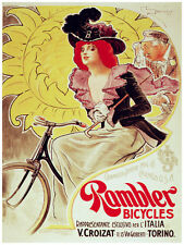 740.Rambler Cycles Ad Wall Decoration POSTER.Graphics to decorate home office.