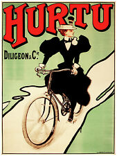 737.Hurtu Cycles Ad Art Decoration POSTER Ad.Graphics to decorate home office.